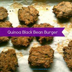 Egg-Free Quinoa Black Bean Burgers