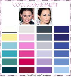 Best colors for Cool Summer seasonal women; Cool Summer color palette | #CoolSummer #colorpalette