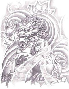 Japanese dog tattoo