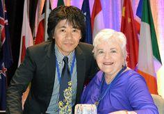 Patricia Benner(ベナー)先生とご一緒しました.ヒューマンケアリングの三大看護理論家のひとりです.