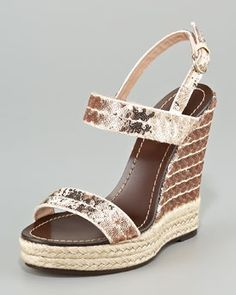 Valentino  Sequined Double-Band Espadrille