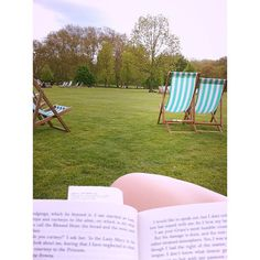 May 2013: Reading in London's Green Park.