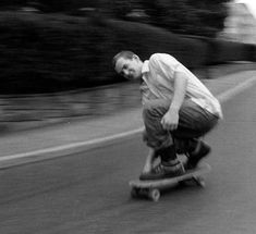 """""""Skateboarding is not a hobby. And it is not a sport. Skateboarding is a way of learning how to redefine the world around you. For most people, when they saw a swimming pool, they thought, 'Let's take a swim.' But I thought, 'Let's ride it.' When they saw the curb or a street, they would think about driving on it. I would think about the texture. I slowly developed the ability to look at the world through totally different means."""" –Ian MacKaye, photo bySusie J Horgan"""