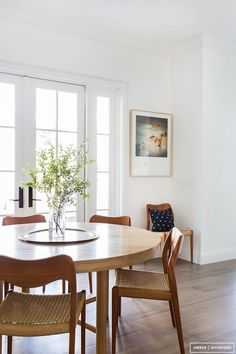 Home Tour: A Modern Bohemian Family Abode. Round Dining TablesKitchen ...
