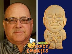 This lucky fella got to celebrate his 60th birthday in the most wonderful way! His wife ordered Parker's Crazy Cookies of him and all of his friends and family loved them! As party favors they can't be beat...and as part of the dessert buffet, they shine!