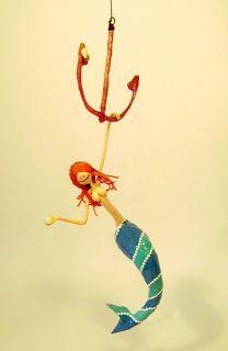 Opa! objetos de papel maché y cartapesta: Sirena