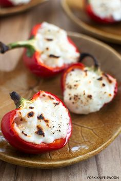 Goat Cheese Stuffed Cherry Peppers