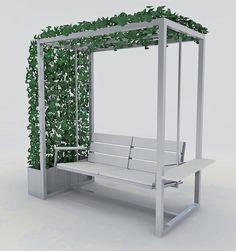 Outdoor Furniture Plans, Diy Garden Furniture, Home Furniture, Furniture Design, Welded Furniture, Steel Furniture, Swing Table, Door Gate Design, Garden Deco