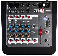 Analog Mixer with 2 Mic/Line/Instrument Channels, 2 Stereo Channels, EQ, and 2 x 2 USB Audio Interface Allen And Heath, Home Monitor, Professional Audio, Phantom Power, Old Music, Security Surveillance, Home Security Systems, Compact, Console