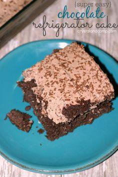 super easy chocolate refrigerator cake