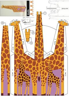 Dover Publications Kid-agami -- Jungle Animals: Kirigami for Kids: Easy-to-Make Paper Toys Cardboard Crafts, Foam Crafts, 3d Paper, Paper Toys, Paper Gifts, Kirigami, Digital Scrapbooking Freebies, Paper Animals, Safari Party