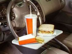 don't let driving get in the way of eating....I have a bad feeling about this!