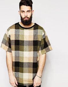 Reclaimed Vintage Oversized Checked T-Shirt