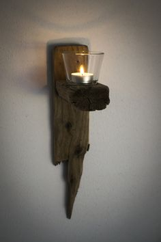 Wall Hanging Candle Holder #Driftwood #Decorations
