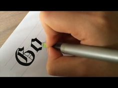 Gothic Calligraphy with Pilot Parallel pens - YouTube