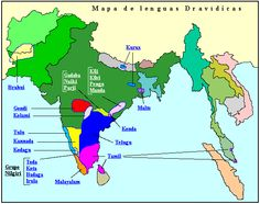 Mapa de lenguas dravídicas