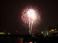 New Year's Eve firework Prague 2013