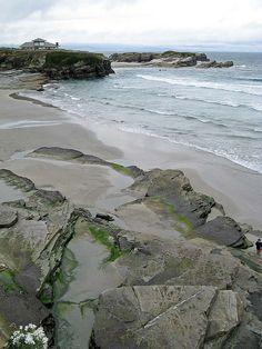 Playa de los Castros. Ribadeo. Galicia