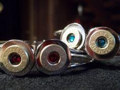 Bullet bangle bracelets with Swarovski crystals. $35.00.