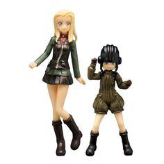 Girls und Panzer der Film Pravda High School Katyusha & Klara Figure Set - 1/35 Scale Figure