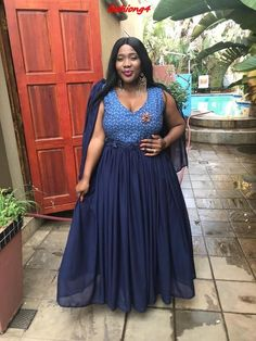 Step into the season with in style with this seasons hottest plus size Shweshwe Dresses to fit any shape or size. We have compiled plus size dresses to suit every shape and style. African Traditional Wedding Dress, African Wedding Dress, Traditional Outfits, Blue Bridesmaid Dresses Short, Short Dresses, Shweshwe Dresses, Africa Dress, Formal Dresses For Weddings, Everyday Dresses