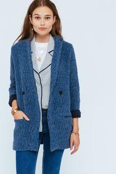 Manteau Gauthier bleu denim - Manteaux et vestes - Les Créations - La  Collection 54fe453fd290