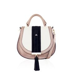 The Mini Venice, Nude Off-White Black Suede, £295