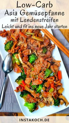 Asian roasted pork with various vegetables – Instakoch. Meatloaf Recipes, Pork Recipes, Low Carb Recipes, Healthy Recipes, Law Carb, Good Food, Yummy Food, Pork Roast, Low Carb Keto