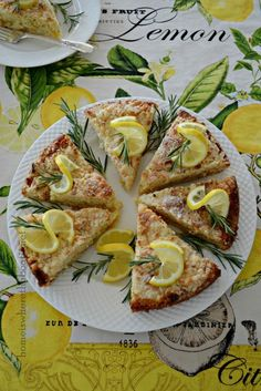 Lemon-Rosemary Coffee Cake
