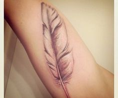 White Dove feather tattoo-meaning-love, gentleness, and kindness...