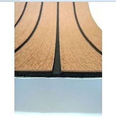 "Amazon.com : EVA Light Brown Foam Faux Teak Decking Sheet with Black seam Marine 35"" X 94"" 6MM Thick : Sports & Outdoors"