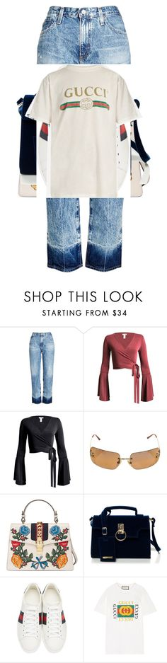 """""""Jjkkk"""" by vintageloadies on Polyvore featuring beauty, AG Adriano Goldschmied, Sans Souci, Chanel and Gucci"""