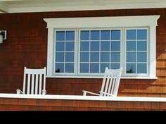 exterior window trim styles craftsman exterior window trim ideas for outside beauteous moulding designs stunning cottage exterior window trim ideas Craftsman Exterior, Cottage Exterior, Exterior Trim, Exterior Design, Craftsman Windows, Exterior Cladding, Exterior Paint, Small Basement Remodel, Basement Remodeling
