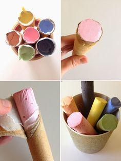 Kreide selbst machen- chalk diy