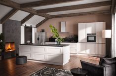 K I T C H E N Traditional . no modern ? no traditional ? Traditional style with modern touches . handless units with touch drawers . Available from Taylorscot . always thinking outside the box ! Kitchen Decor, Kitchen Design, Interior Styling, Interior Design, German Kitchen, Open Plan Kitchen, Modern, House Plans, Kitchen Cabinets