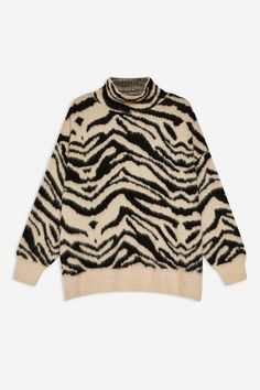 243b6d610 Moving Zebra Funnel Jumper - Clothing- Topshop USA Cardigan Outfits