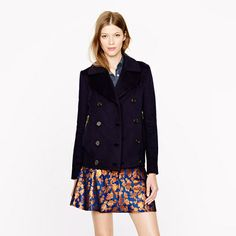 J.Crew Collection cashmere bomber peacoat | #Chic Only #Glamour Always