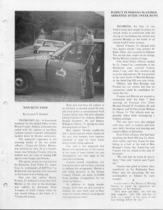 KSP manhunt news clipping Ford Police, Police Cars, Kentucky State Police, Cops, Military, Models, Stone, Templates, Rock