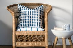 Laundry Basket, Wicker, Indigo, Organization, Collection, Home Decor, Getting Organized, Organisation, Decoration Home