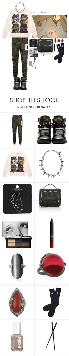 """."" by applecocaine ❤ liked on Polyvore featuring Yves Saint Laurent, Gucci, Topshop, Givenchy, NARS Cosmetics, Bottega Veneta, Lavish by TJM, Abandon Ship, Essie and France Luxe"