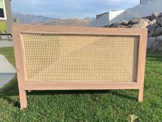 Build A Frame, Diy Bed Frame, Diy Daybed, Diy Headboards, Cane Furniture, Furniture Projects, Plywood Furniture, Modern Furniture, Furniture Design