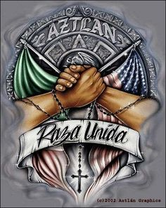Chicano Rap added a new photo — with Pancho Acosta and 12 others. Chicano Art Tattoos, Chicano Drawings, Badass Drawings, Tattoo Drawings, Arte Cholo, Cholo Art, Aztec Pictures, Chicano Love, Mexican Art Tattoos