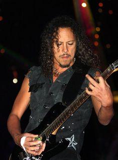 Famous Vegetarian Rock Stars: Kirk Hammet, lead guitarist and songwriter of the heavy metal band of Metallica