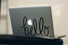 Hand Lettered Custom Laptop Decal