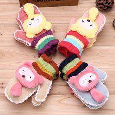 Girl's Knitted Toy Gloves Full Finger Gloves Kids Warm Gloves, View Toy Gloves…