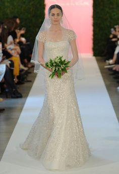 Take away the veil and this could be the perfect dress!   Oscar de la Renta Spring 2015 | MCV Photo | The Knot blog