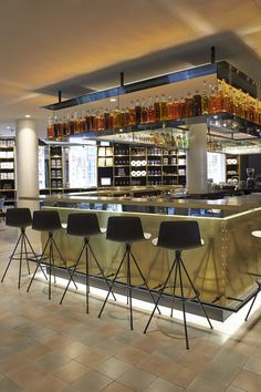 Bar in the INK Hotel Amsterdam by MGallery, Amsterdam, Nethelands