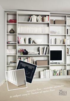 Fernseher verstecken Bücherregal