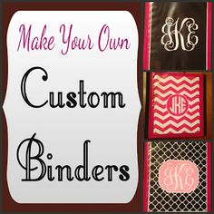 Make custom three-ring binders with clear view binders and monogram printables. These are great for school, recipes, home organization, or planners.