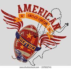 American College Sports Vector Art - 157832741 : Shutterstock